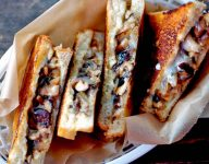 Grilled Cheese Sandwiches with Sautéed Mushrooms