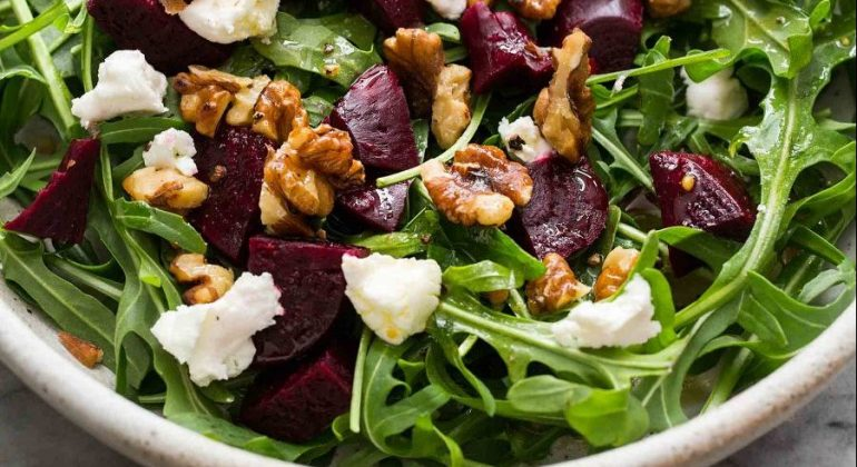 Arugula Salad with Beets and Goat Cheese Recipe
