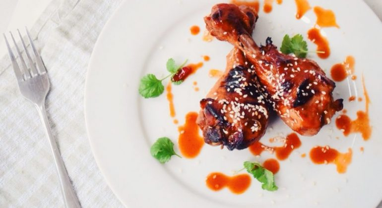 Baked Honey Sriracha Chicken