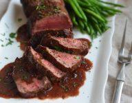 Roast Beef Tenderloin with Wine Sauce