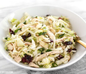 Chicken and Cranberry Salad with Lemon Poppy Seed Dressing