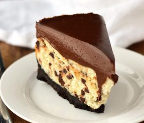 Chocolate Chip Cheesecake with Chocolate Mousse