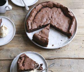 Flourless Chocolate Cake with Salted Caramel Cream