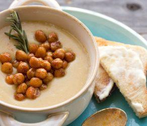 Garlic-Rosemary Cauliflower Potato Soup