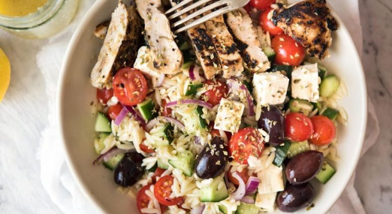 Greek Lemon Orzo Salad