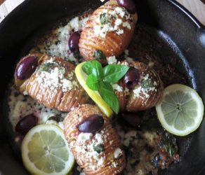 Greek Style Hasselback Skillet Potatoes