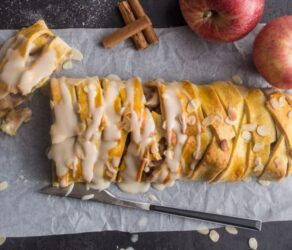 Homemade Cinnamon Apple Strudel
