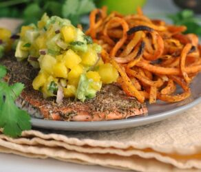 Jamaican Jerk Salmon with Fresh Mango Salsa