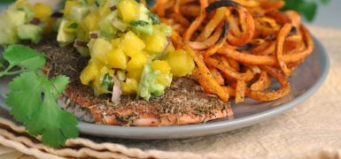 Jamaican Jerk Salmon with Fresh Mango Salsa
