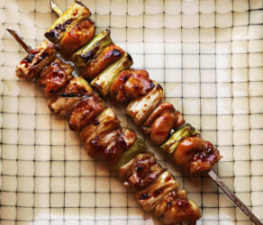 Japanese Chicken Skewers With Scallion
