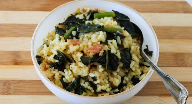 Kale and Bacon Risotto