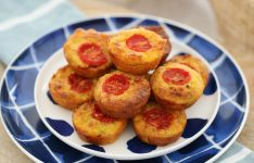 Mini Vegetable & Ham Quiche Bites