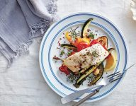 One Pan Roasted Fish and Vegetables