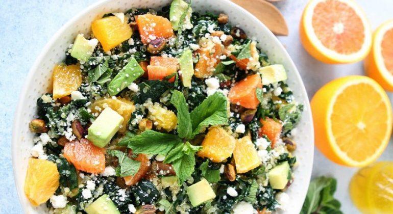 Orange, Avocado, and Kale Quinoa Salad