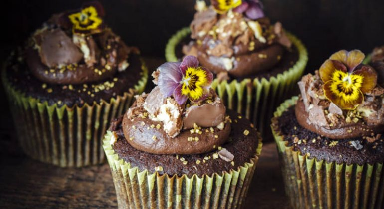 Tim Tam Pineapple Chocolate Cupcakes