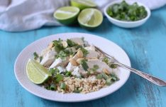 Poached Coconut Chicken with Brown Rice