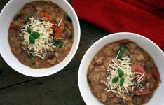 Pot Beans with Tomatoes Basil and Parmesan Cheese