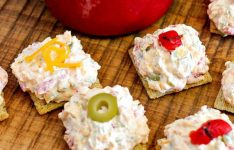 Red Pepper Cheddar Green Olive Dip
