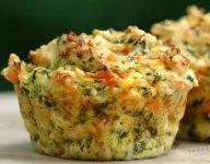 Savoury Pumpkin Spinach and Feta Muffins