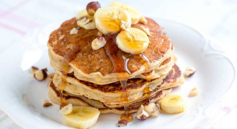 Spiced Buttermilk Banana Pancakes