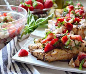 Strawberry Balsamic Grilled Chicken