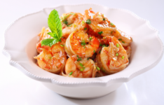 Wok-fried Prawns with Lime and Coriander