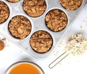 Apple Pie Baked Oatmeal Cups