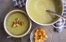 Three Vegetable Creamy Broccoli Soup