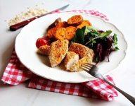 Oat crusted chicken tenders