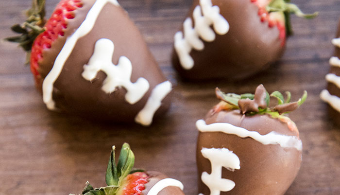 Chocolate Covered Strawberry Footballs Salt And Sugar