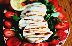 Fresh Mozzarella Strawberry Flatbread