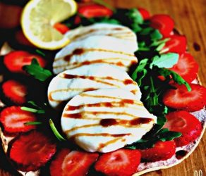 Fresh Mozzarella Strawberry Flatbread