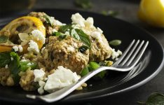 Greek Lamb Meatballs and Rice