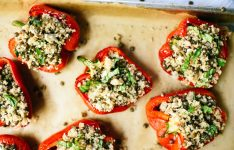 Lentil and Couscous Stuffed Peppers