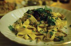 Mushroom Pasta with Italian Sausage