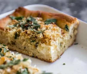 Roasted Cauliflower And Ricotta Grandma Pie