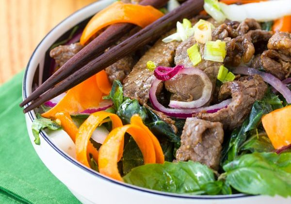 Asian Beef and Bok Choy Salad