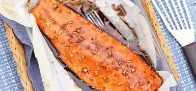 Baked Tamari Maple Salmon
