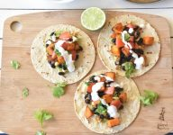 Barbecue Spiced Sweet Potato and Black Beans Tacos