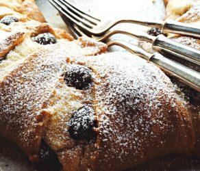 Black Cherry Almond Crescent Ring Dessert