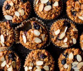Blueberry Almond Power Muffins