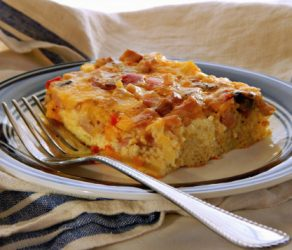 Cheese & Sausage or Ham Egg Bake