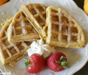 Cinnamon Sugar Pumpkin Waffles