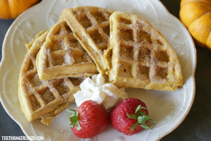 Cinnamon Sugar Pumpkin Waffles Salt And Sugar