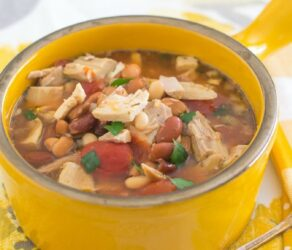 Crock Pot Three Bean Turkey Soup
