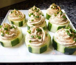 Cucumber Cups with Creamy Chicken Whip