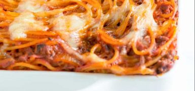 Easy Baked Spaghetti Recipe with Mozzarella