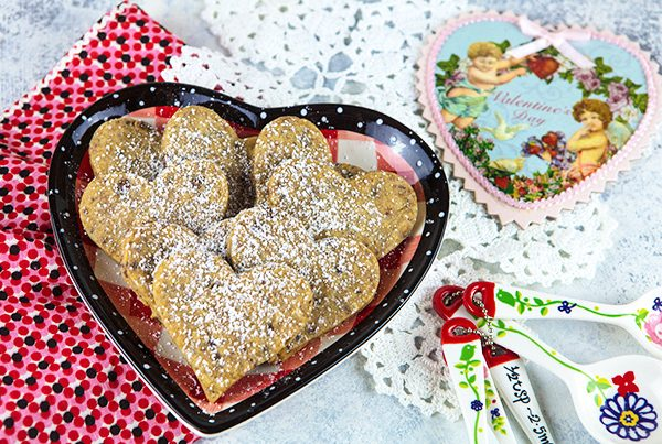 Espresso Dark Chocolate Heart Cookies