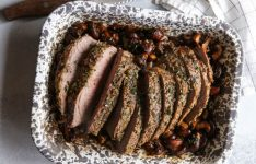 Garlic Herb Tri-tip Roast with Mushrooms