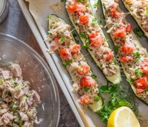 Healthy Zucchini Tuna Melts